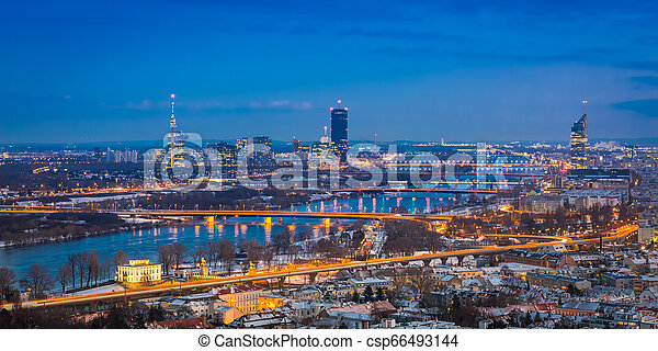View of Vienna in at blue hour - csp66493144