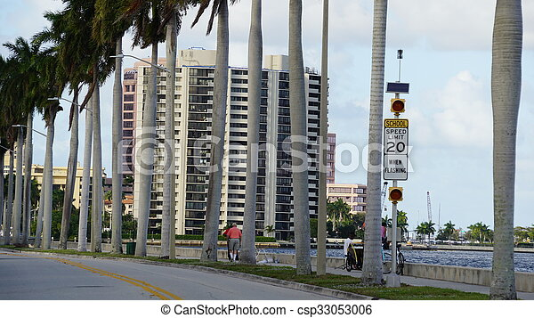 View of West Palm Beach in Florida - csp33053006