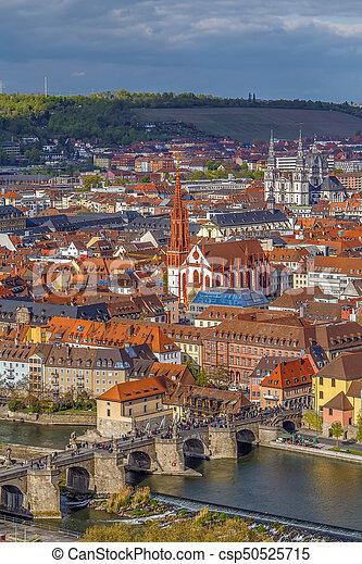 View of Wurzburg, Germany - csp50525715