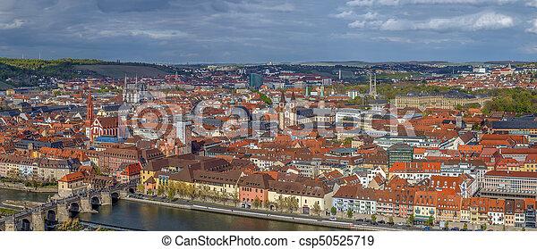 View of Wurzburg, Germany - csp50525719
