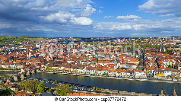 View of  Wurzburg, Germany - csp87772472