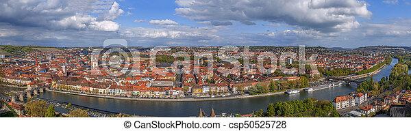 View of Wurzburg, Germany - csp50525728
