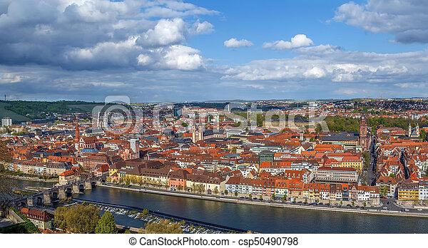 View of Wurzburg, Germany - csp50490798
