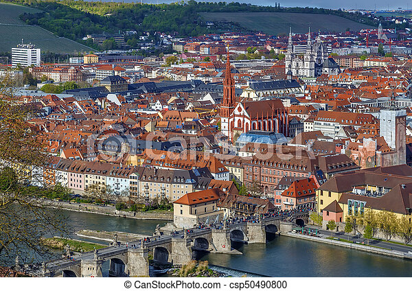 View of Wurzburg, Germany - csp50490800