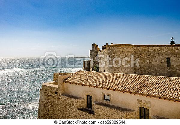 View old Castle - csp59329544