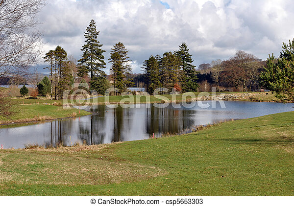 view on a golf course - csp5653303