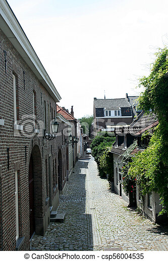 View on a small street in the centre of town - csp56004535