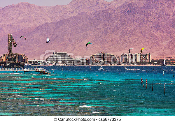 View on bay and coastline in Eilat, Israel. - csp6773375