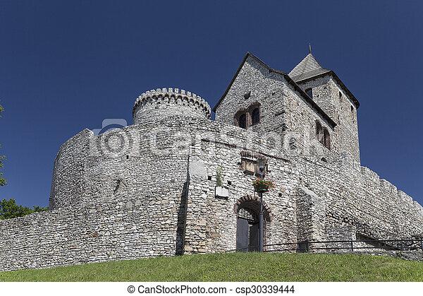 view on Bedzin Castle in Poland, Upper Silesia - csp30339444