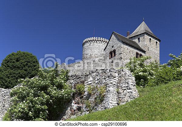 view on Bedzin Castle in Poland, Upper Silesia - csp29100696