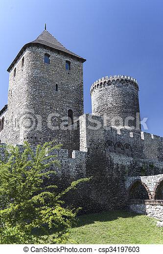 view on Bedzin Castle in Poland, Upper Silesia - csp34197603