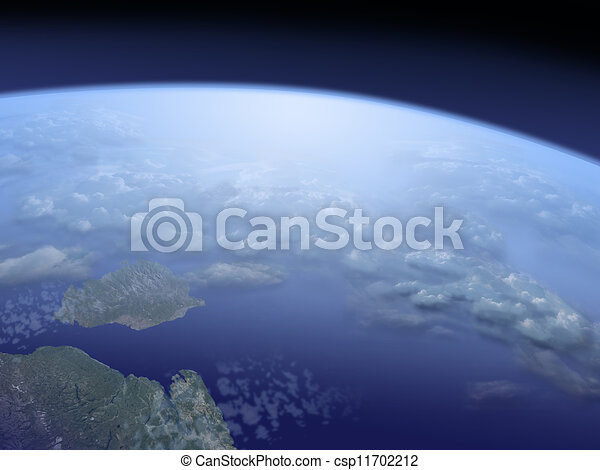 view on Earth from space - csp11702212