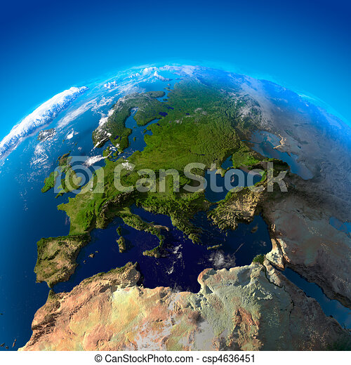View on Europe from a height of satellites - csp4636451