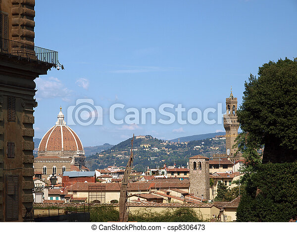 View on Florence from Palace Pitti   - csp8306473