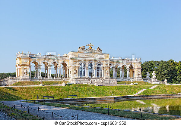 View on Gloriette structure  in Schonbrunn Palace, Vienna, Austria - csp16631352