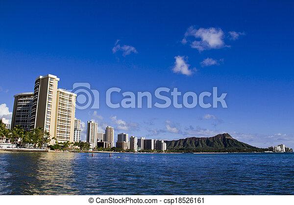 View On Honolulu City Waikiki Beach Hawaii