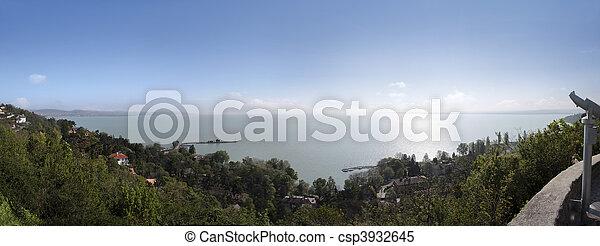 View on Lake Balaton at Tihany - csp3932645