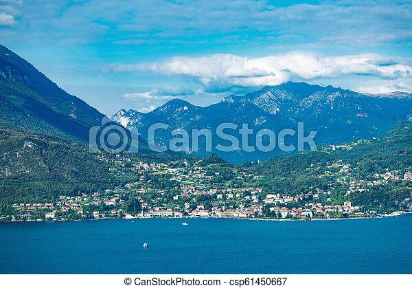 View on Menaggio on Lake Como Lecco Lombardy Italy - csp61450667
