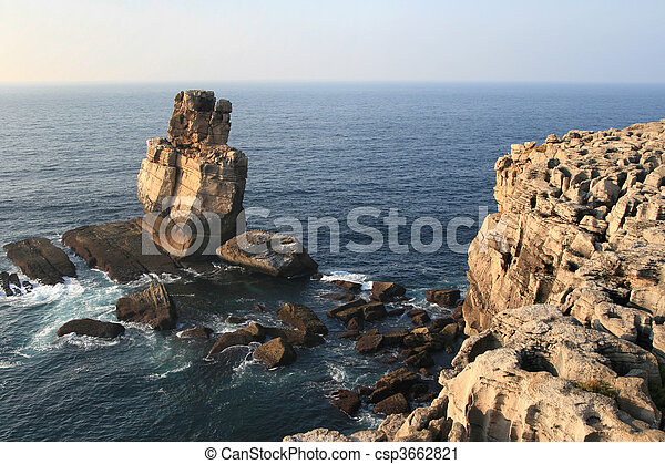 view on rock in the ocean - csp3662821