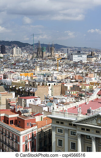 View On The Barcelona City Country Spain View On The City Barcelona