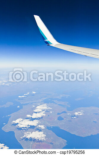 View out of an airplane window - csp19795256