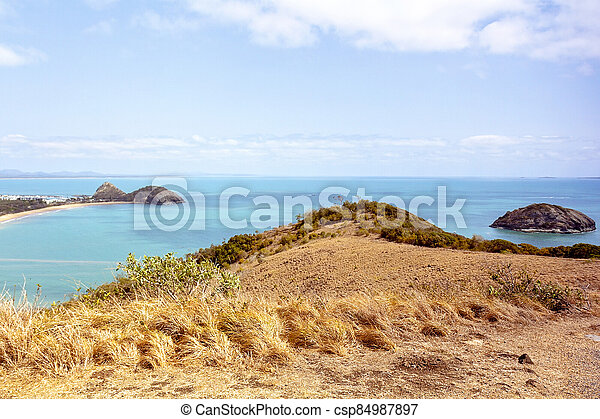 View Out To Sea From Tourist Lookout - csp84987897