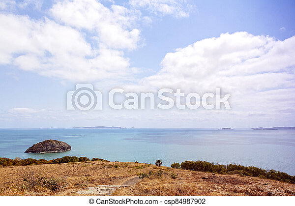 View Out To Sea From Tourist Lookout - csp84987902