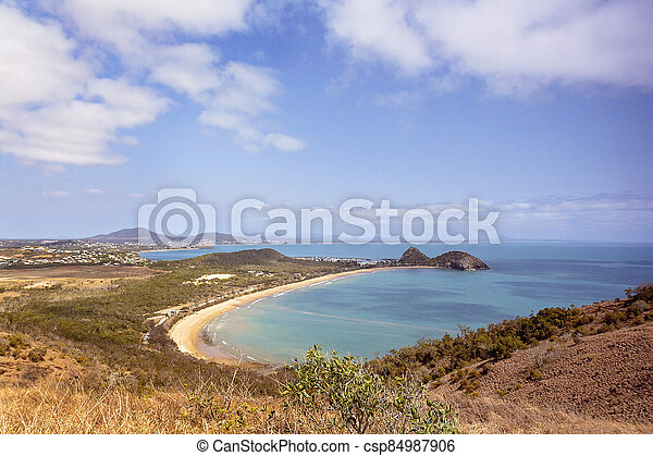 View Out To Sea From Tourist Lookout - csp84987906