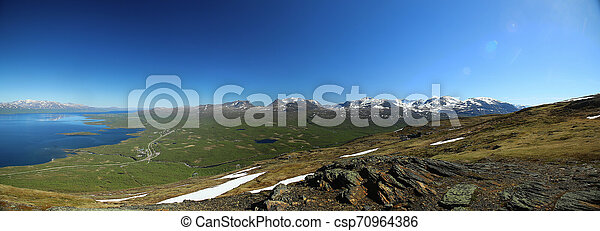 View over Abisko valley in Northern Sweden - csp70964386
