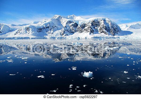 view over blue sea towards antarctica - csp5922297
