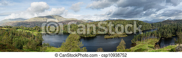View over Tarn Hows in English Lake District - csp10938752