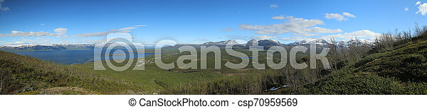 View over the Abisko valley in Lapland, Sweden - csp70959569