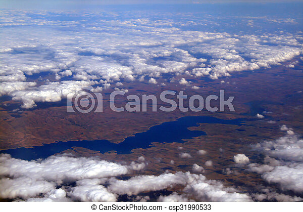View over the clouds - csp31990533