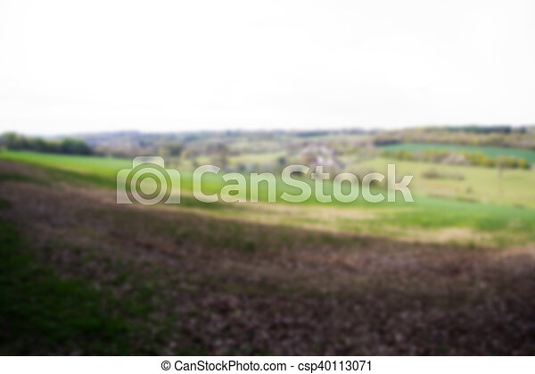 View over the countryside in the Chilterns Out of focus. - csp40113071