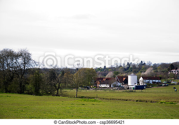 View over the countryside in the Chilterns - csp36695421