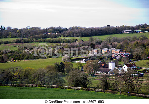 View over the countryside in the Chilterns - csp36971693