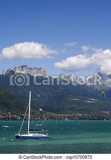 view over the lake of annacy, france - csp10700973
