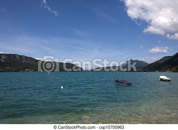 view over the lake of annacy, france - csp10700963