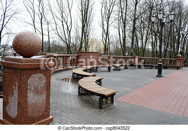 View square in Vitebsk on a cloudy spring day - csp8043522