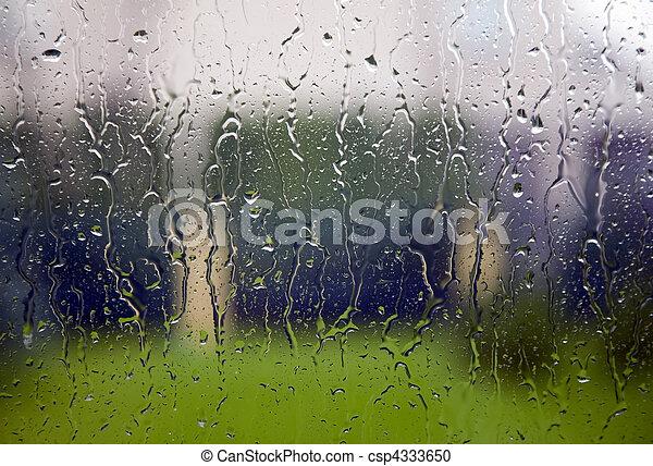 view through the window when raining view through the window to