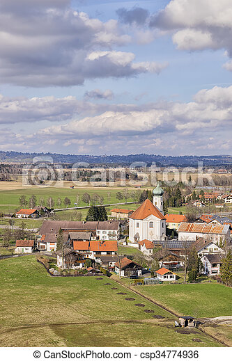 View to church in Bavaria - csp34774936