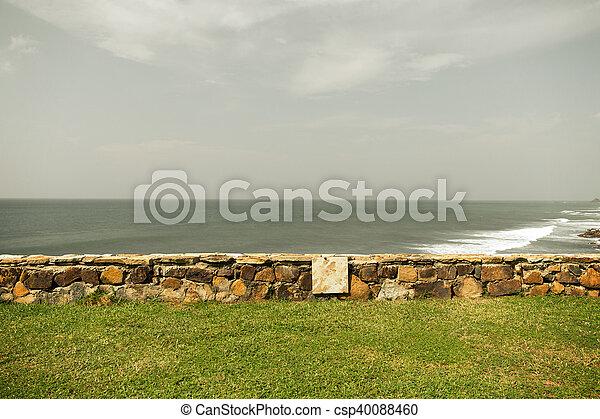 view to sea or ocean on Sri Lanka - csp40088460