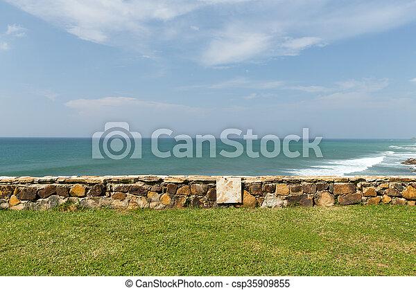 view to sea or ocean on Sri Lanka - csp35909855