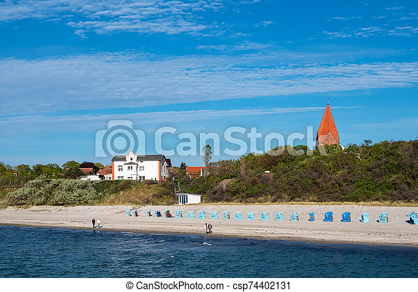 View to the beach in Rerik, Germany - csp74402131