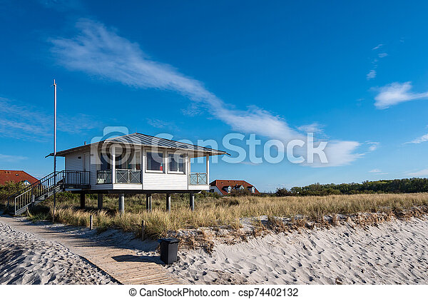 View to the beach in Rerik, Germany - csp74402132
