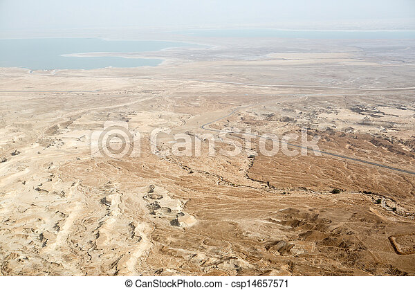 View to the Dead sea from Masada - csp14657571