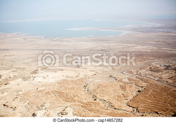 View to the Dead sea from Masada - csp14657282