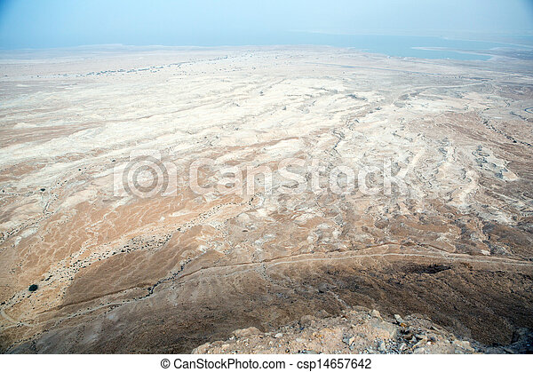 View to the Dead sea from Masada - csp14657642