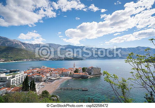 view to the Old Town of Budva - csp52258472