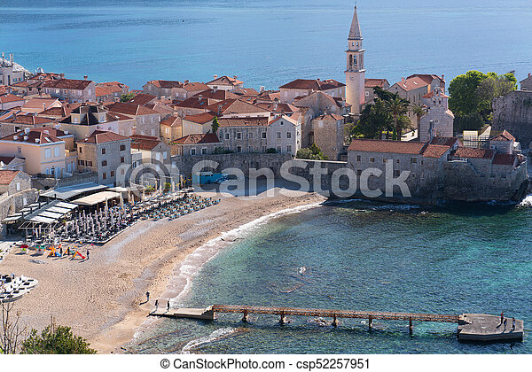 view to the Old Town of Budva - csp52257951